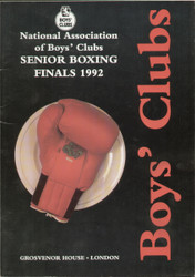 original programme for the Boys' Clubs Senior Boxing Finals 1992.