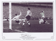 Bertie Auld clelebrates scoring in the 1965 Scottish Cup Final