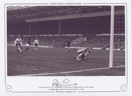 Bobby Lennox scores for Scotland V England at Wembley 1967