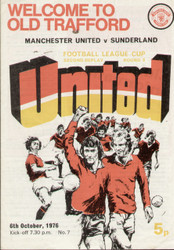On offer is an original Official programme for the League Cup 3rd Round 2nd replay Manchester United V Sunderland played on 6 October 1976 at Old Trafford.