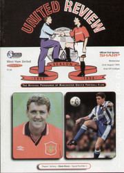 On offer is an original Official programme for the Premier League match Manchester United V West Ham United played on 23 August 1995 at Old Trafford.