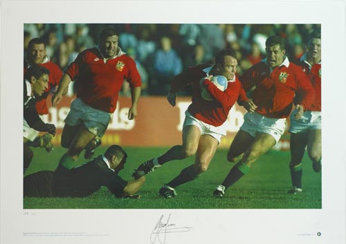 Wales and Lions winger Ieuan Evans in action during the Lions tour of New Zealand in 1993.