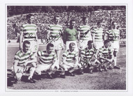 Superb signed picture of the Celtic side prior to kick off in the 1967 European Cup Final.
