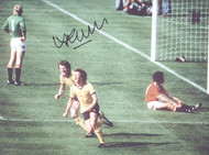 Superb photograph showing Alan Sunderland celebrating his last minute winner for Arsenal in a dramatic 1979 FA Cup Final