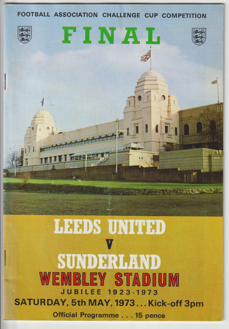 1973 FA Cup Final programme.