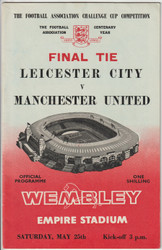 original Official 1963 FA Cup Final programme
