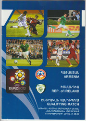 Official Euro 2012 qualifier programme for the game, Armenia V Republic of Ireland