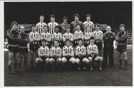 Superb hand signed Grimsby Town FC Official Team Photograph season 1985-86, signed by 15 of the squad to the rear of the photograph.
