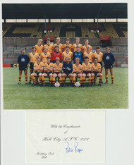 Superb hand signedHull CityFC Official Team Photograph season 1985-86, signed by 17 of the squad to the rear of the photograph.