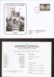 commemorative cover produced to celebrate Celtic 1967 European Cup Winners.
