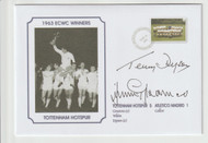 1963 Cup Winners Cup Final Tottenham Commemorative Cover Signed Greaves & Dyson