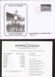 commemorative cover to celebrate Bolton Wanderers 1958 FA Cup Winners.