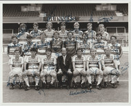 Superb hand signed QPR Official Team Photograph season 1985-86, signed by 20+ of the squad to the photograph.