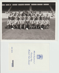 Superb hand signed Coventry City FC Official Team Photograph season 1985-86, signed by 18+ of the squad to the rear of the photograph.
