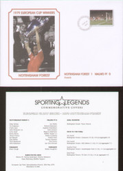 commemorative cover produced to celebrate Nottingham Forest European Cup Winners 1979
