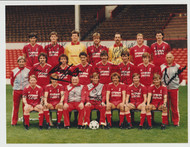 Superb hand signed Liverpool FC Official Team Photograph season 1985-86, signed by 18 of the squad to the front of the photograph.