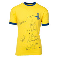 Retro replica 1971 Arsenal shirt hand signed by 9 of the FA Cup winning side.
