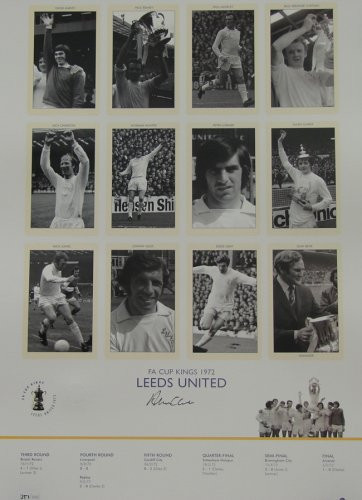 Leeds United FA Cup Kings 1972 - Limited Edition signed by Alan Clarke