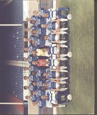 Hand signed Leicester City FC Official Team Photograph season 1985-86, signed by 18+ of the squad