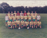 Hand signed Norwich City FC Official Team Photograph season 1985-86, signed by 14+ of the squad to the photograph