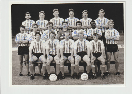 Superb hand signed Sunderland FC Official Team Photograph season 1985-86, signed by 16 of the squad to the photograph