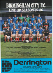 Superb hand signed Birmingham City FC Official Team A4 Poster season 1985-86, signed by 16 of the squad to the poster.
