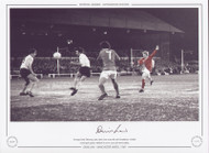 Denis Law - Manchester United 1969. Vicarage Rd, February 1969, Denis Law scores his and Manchester United's second goal against Watford in an FA Cup 4th round replay.