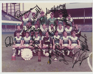 Superb hand signed Everton FC Official Team Photograph season 1985-86, signed by 14+ of the squad to the photograph