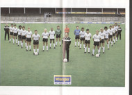 Superb hand signed Notts County FC Official yearbook season 1985-86, signed by 18 of the squad to the centre pages.