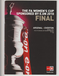 original Official 2010 Ladies FA Cup Final programme for the game, Arsenal V Everton played on 3 May 2010 at the City Ground, Nottingham