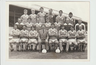 Superb hand signed Blackpool FC Official Team Photograph, probably season 1981-82, signed by 16 of the squad to the rear of the photograph