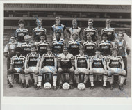 Hand signed Aston Villa FC Official club issued team photograph season 1985-86, signed by 18+ to the photograph