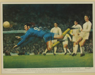 limited edition print by renowned artist Brian West showing Peter Osgood equalising in the 1970 FA Cup Final Replay.