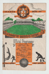 Official Charity Shield programme 1954