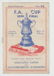 Official 1951 FA Cup Semi Final programme