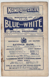 original Official League Division One programme for the game, Manchester City V Sunderland played on 3 October 1925