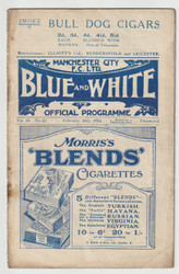 original Official League Division One programme for the game, Manchester City V Burnley played on 16 February 1924