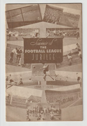 original Official programme for the Football League Jubilee Trust Fund game, Everton V Liverpool played on 20 August 1938