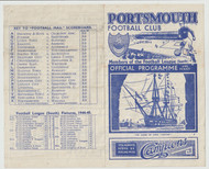 original Official Football League South programme for the game, Portsmouth V Queens Park Rangers played on 4 November 1944