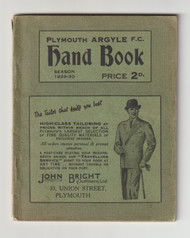 original Official Plymouth Argyle Handbook for the season 1929/30