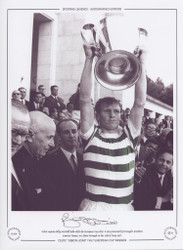 Celtic captain Billy McNeill holds aloft the European Cup 1967