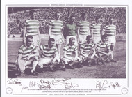 Superb signed picture of the Celtic side prior to kick off in the 1967 European Cup Final