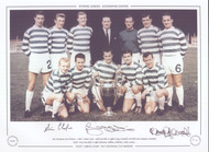 Superb signed picture of the victorious European Champions, Celtic, after they had beaten Inter Milan in the 1967 European Cup Final, iconic image
