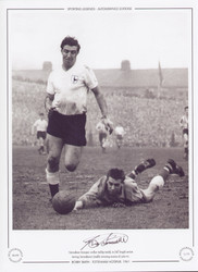 Tottenham Hotspur striker Bobby Smith, in full length action during Tottenham's double winning season of 1960/61.
