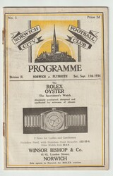 original Official League Division Two programme for the game, Norwich City V Plymouth Argyle played on 15 September 1934