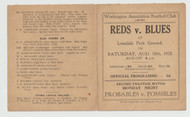 original official Workington Town pre season practice match programme for the game, Reds V Blues played on 18 August 1928at the club's former Lonsdale Park Ground
