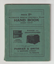 original Official Plymouth Argyle Handbook for the season 1928/29