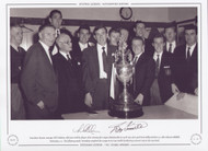 Tottenham Hotspur manager Bill Nicholson celebrates with his players after winning the League Championship in April 1961, after goals from Bobby Smith & Les Allen defeated Sheffield Wednesday 2-0.