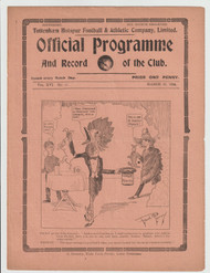 original Official League Division One programme for the game, Tottenham Hotspur V Aston Villa played on 22 March 1924