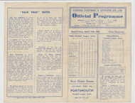original Official Football League South programme for the game, Chelsea V Plymouth Argyle played on 19 April 1946